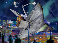 Artist view of Atlantis on display at KSCVC.