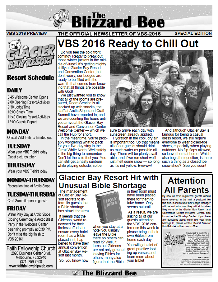 VBS 2016 Preview Newsletter