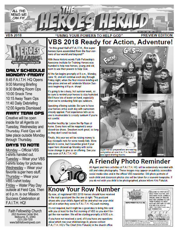 VBS 2018 Preview Newsletter